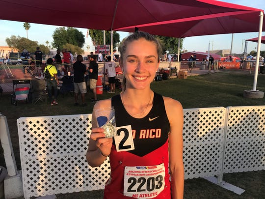 Rio Rico senior wins her fourth consecutive 800 final at the 2019 girls state track and field championship.