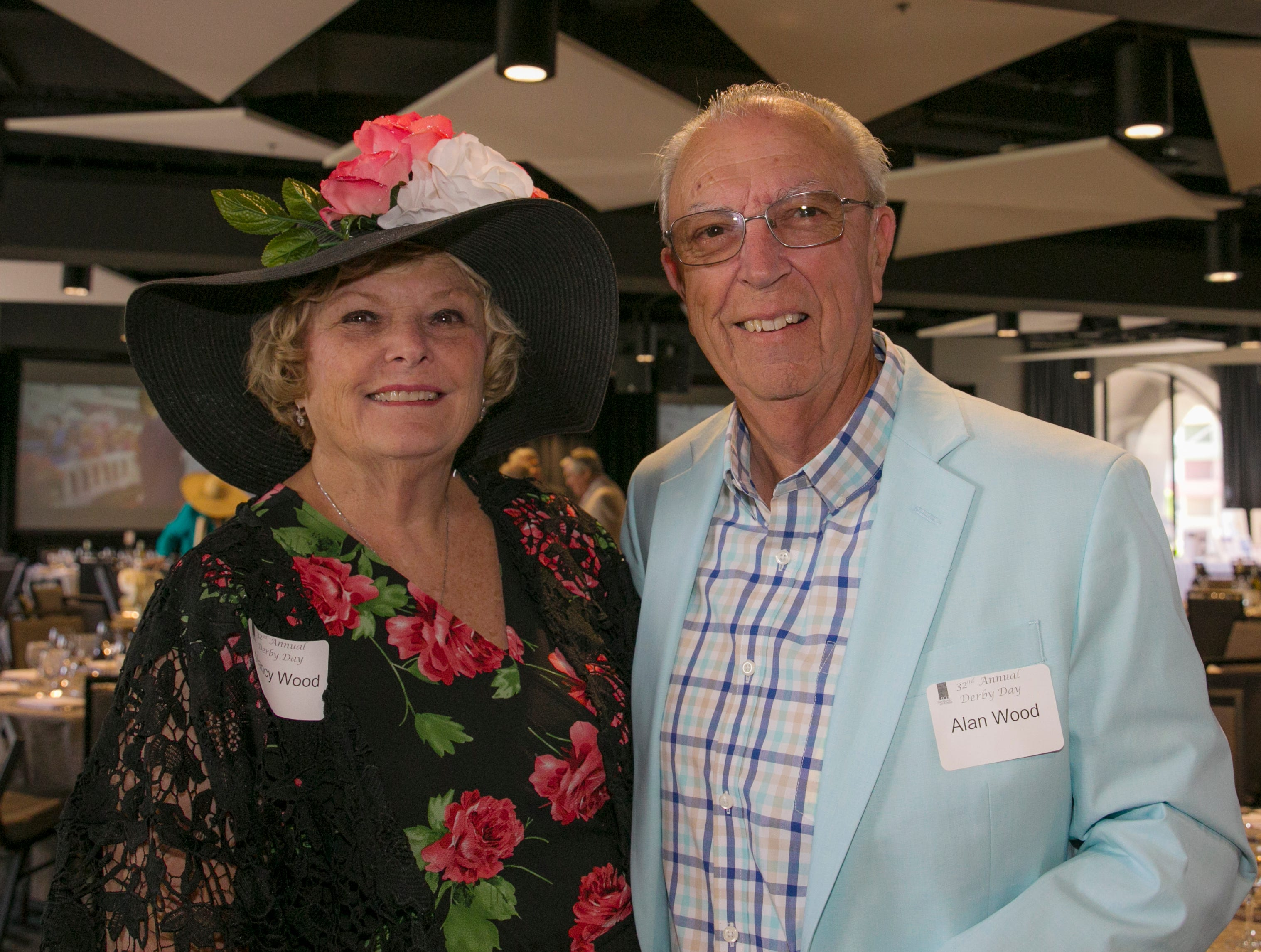 Nancy and Alan Wood during the Derby Day fundraiser for the Reno Chamber Orchestra at the Renaissance Reno on Saturday, May 4, 2019.