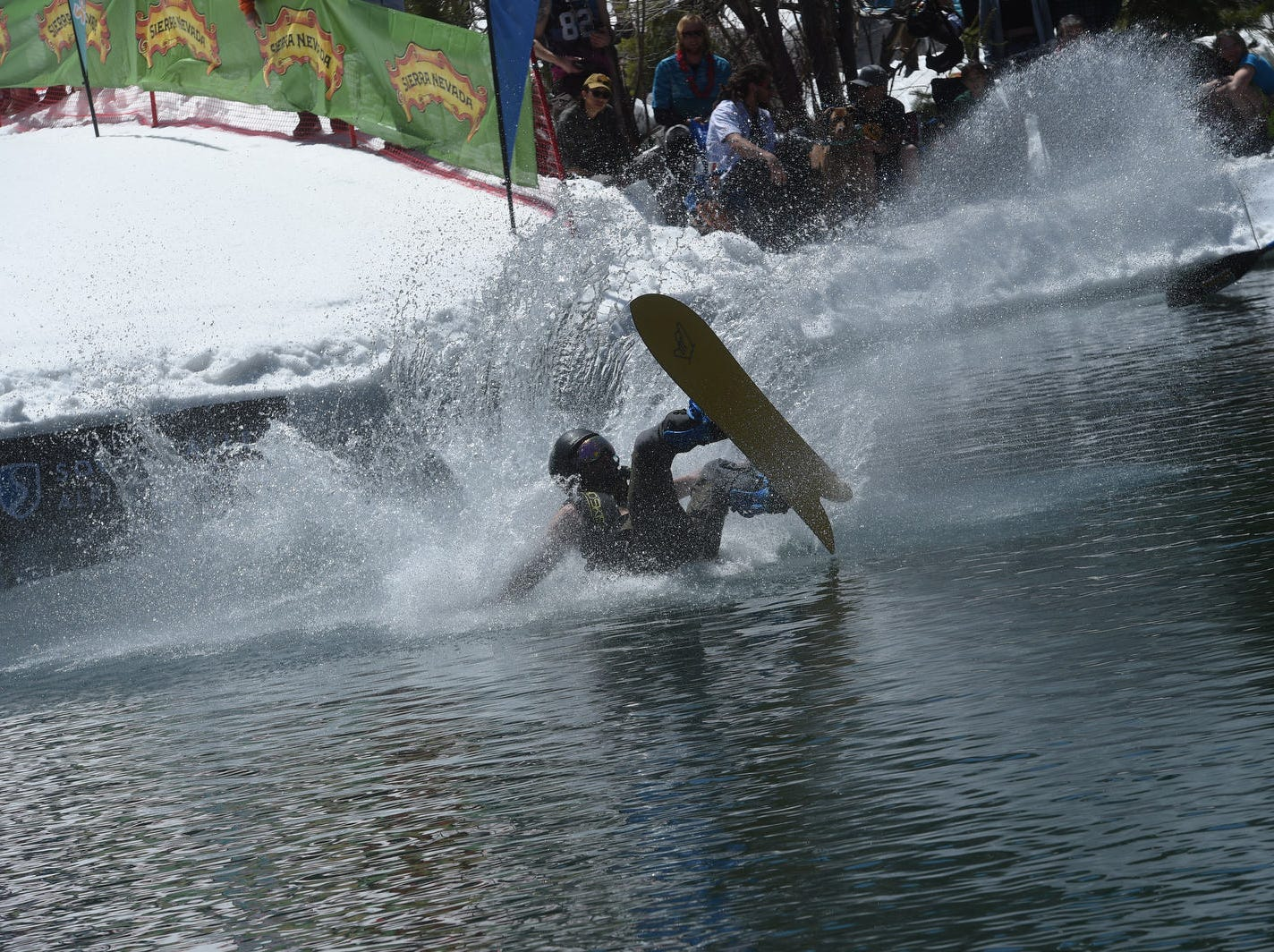 The Cushing Crossing pond skimming event at Squaw Valley on May 4, 2019.
