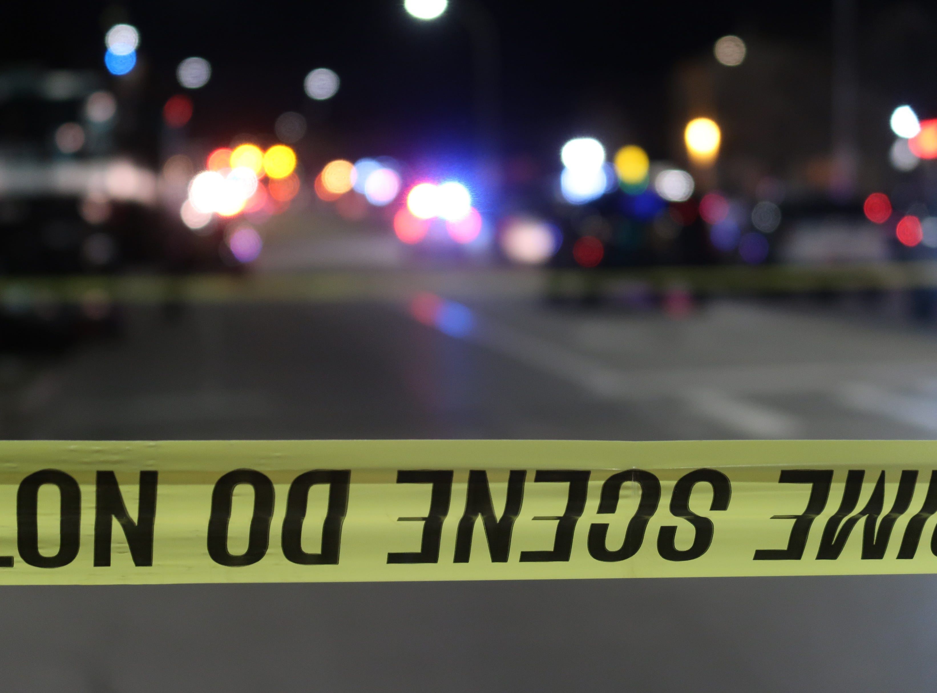 Police blocked off a large section of Dewey Avenue and surrounding streets late Saturday night.