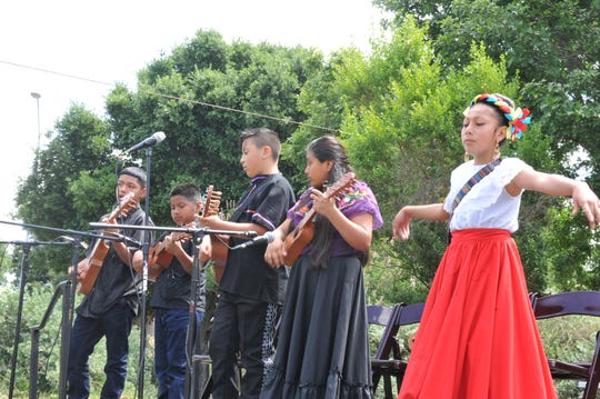 The Alisal Center for the Fine Arts group Son Y Fandango performed Son Jarocho music, a Mexican style of music that blends African, indigenous and European sounds, at Take It Outside Salinas on May 5, 2019.