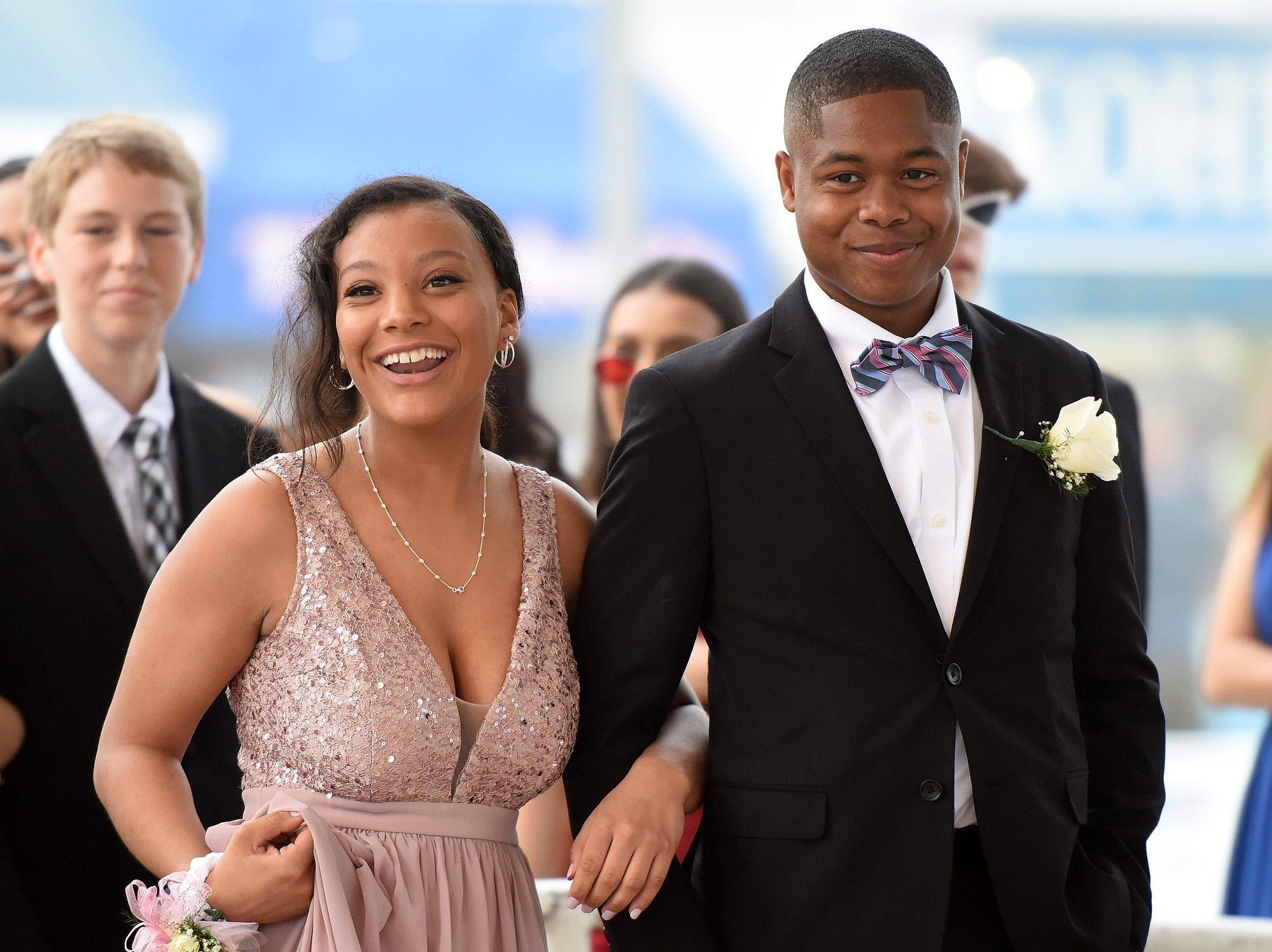 Cape Henlopen High School's grand march was held at the Rehoboth Beach Bandstand on Saturday, May 4, 2019.