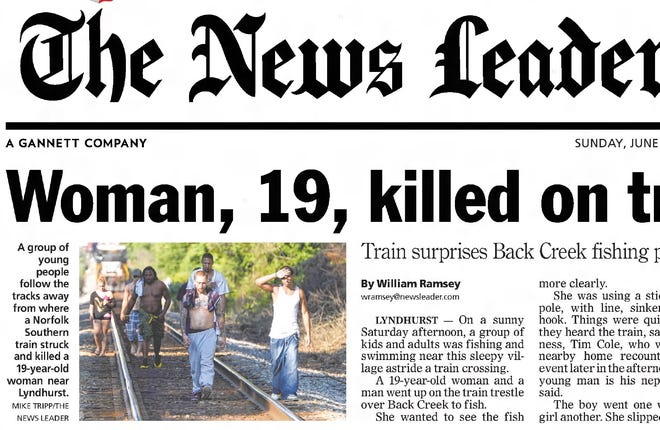 News Leader coverage of a death at Back Creek in Lyndhurst.