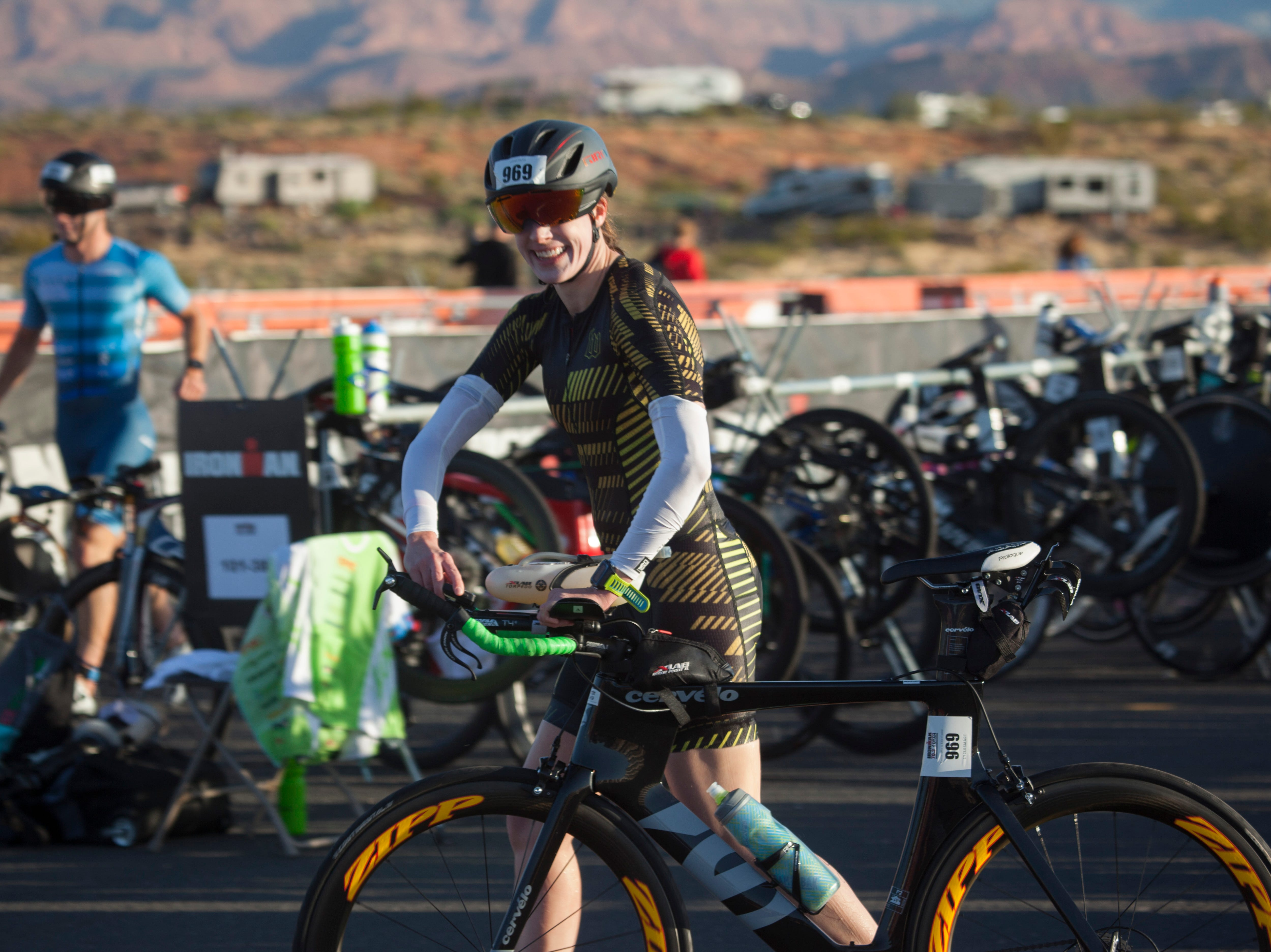 St. George Ironman contestants begin the bike portion of the race Saturday, May 4, 2019.