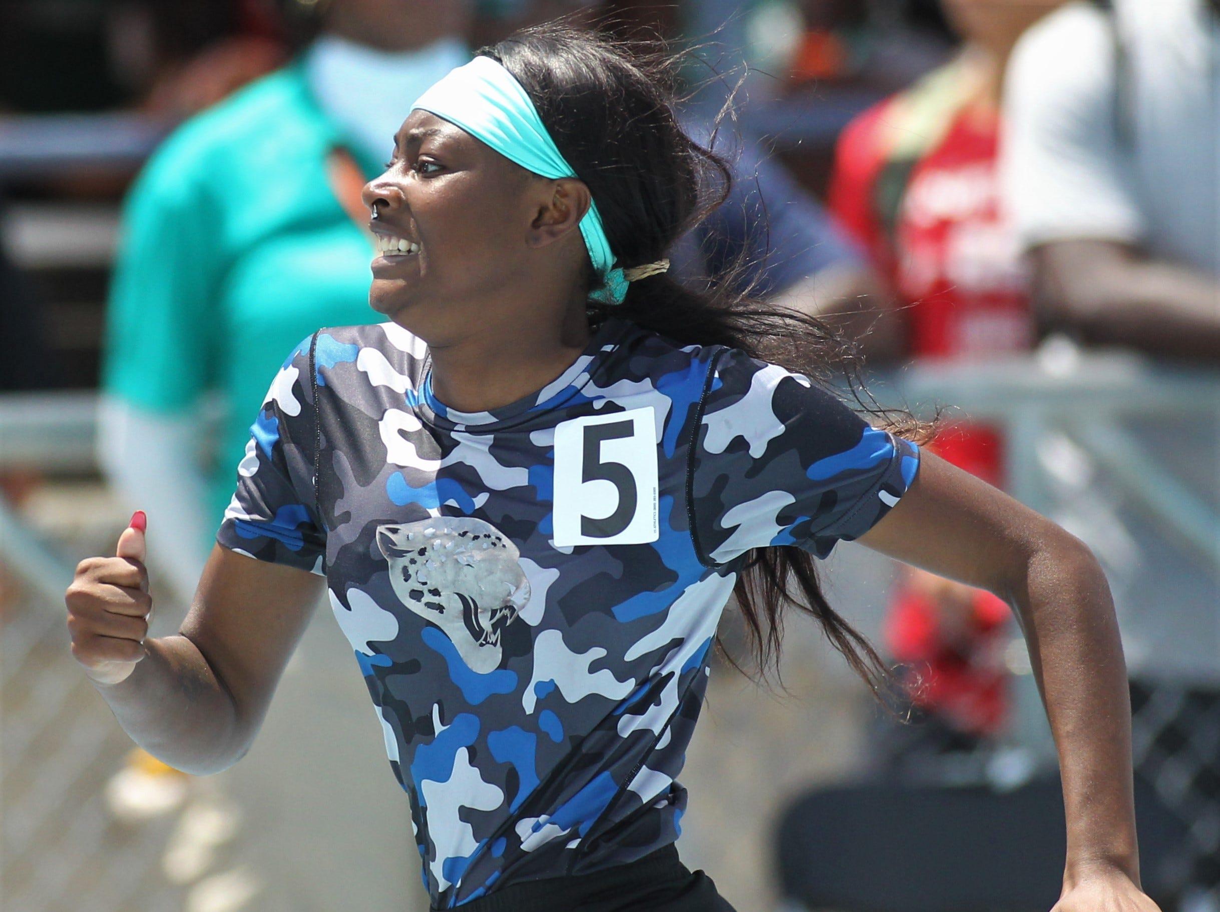 Gadsden County senior Janasia Cox took silver in the Class 2A 300m hurdles at the FHSAA Track and Field State Championships at UNF's Hodges Stadium in Jacksonville on May 4, 2019.