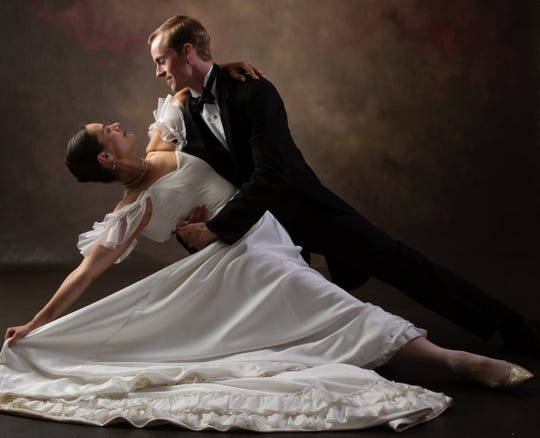 """Meagan Helman and Ben Howard in Talahassee Ballet's production of """"Bernstein and Gershwin."""""""