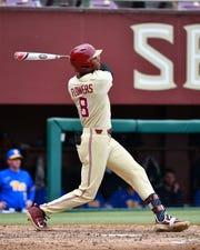 FSU junior J.C. Flowers had two home runs in the Seminoles' doubleheader sweep of Pitt Sunday, May 5.