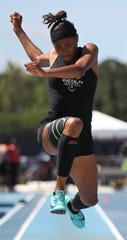 Lincoln sophomore Yasmin Grace finished third in Class 3A triple jump during the FHSAA Track and Field State Championships at UNF's Hodges Stadium in Jacksonville on May 4, 2019.