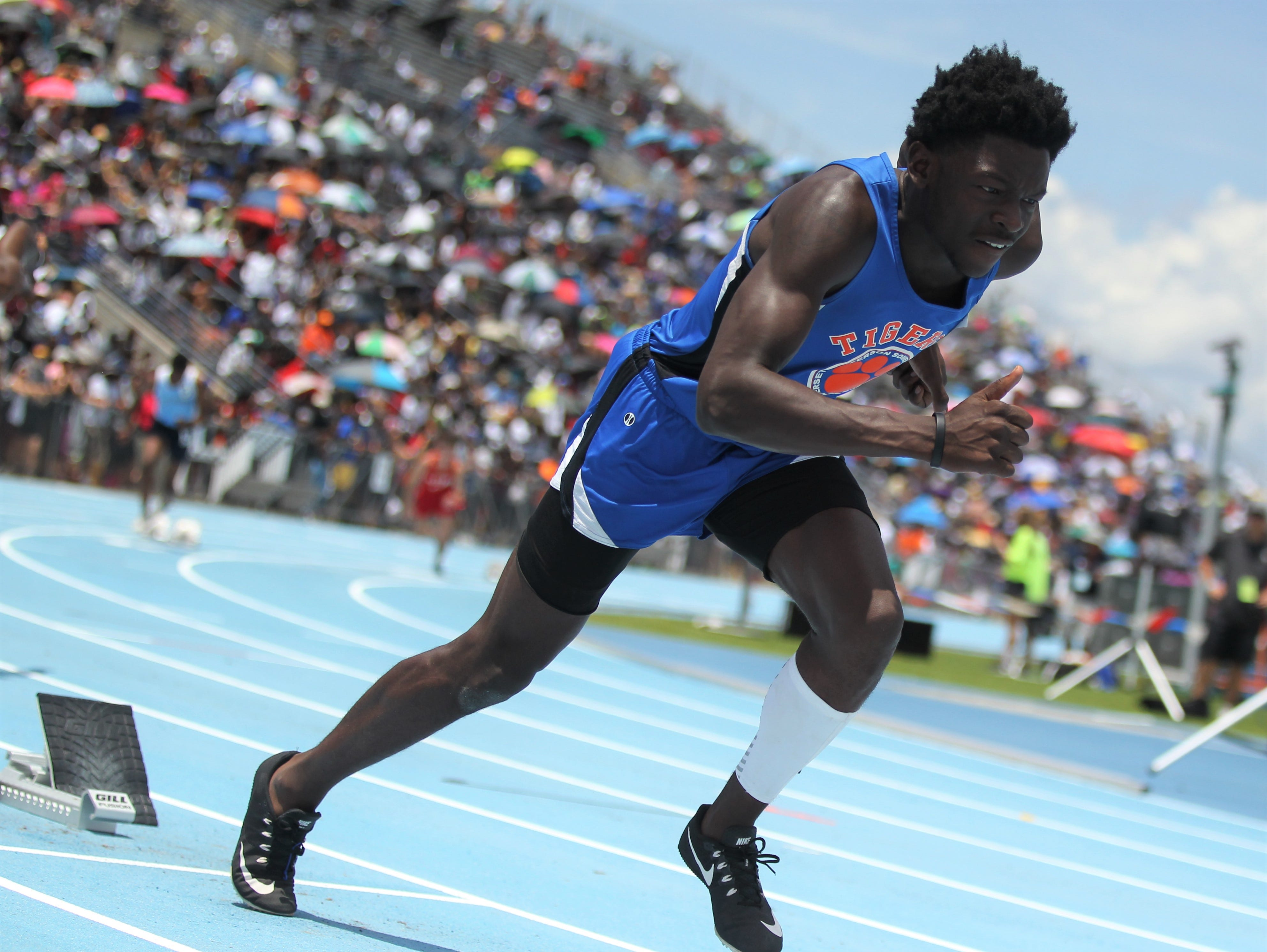 Jefferson County junior Detrevian Nealy took bronze in the Class 1A 400m dash at the FHSAA Track and Field State Championships at UNF's Hodges Stadium in Jacksonville on May 4, 2019.