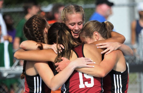 Chiles' girls 4x800 relay team of Emily Culley, Caitlin Wilkey, Olivia Miller and Alyson Churchill captured gold in Florida's fourth-best time ever during the FHSAA Track & Field State Championships at UNF's Hodges Stadium in Jacksonville on May 4, 2019.