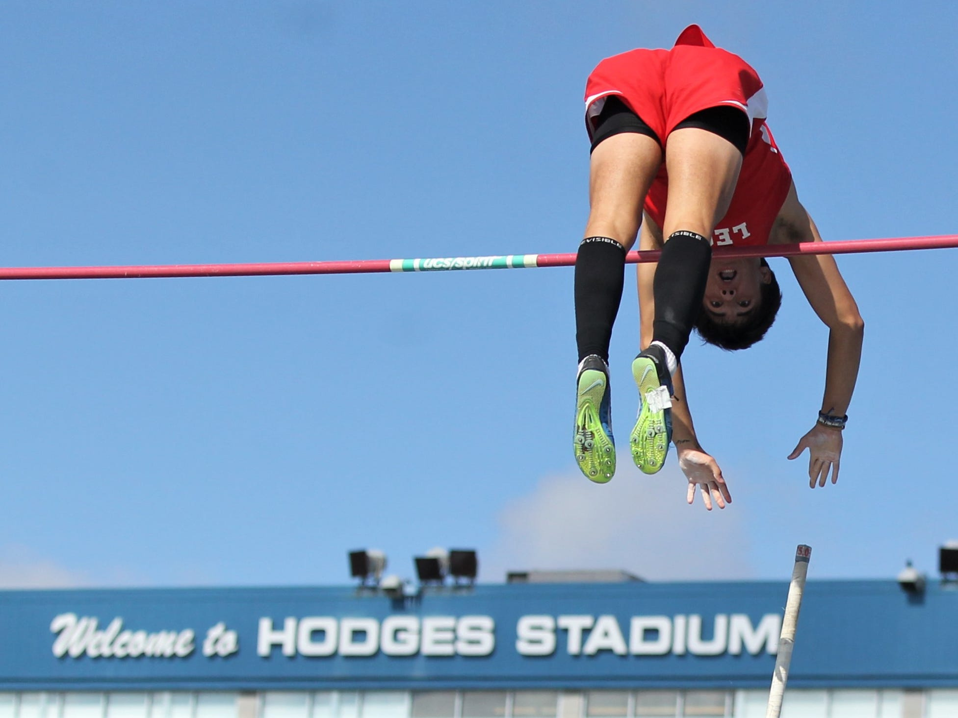 Leon senior Sebastian Campo took home a silver medal in Class 3A pole vault, reaching 15-09 to tie for the high mark of the day and set a new Leon school record during the FHSAA Track and Field State Championships at UNF's Hodges Stadium in Jacksonville on May 3 and 4, 2019.