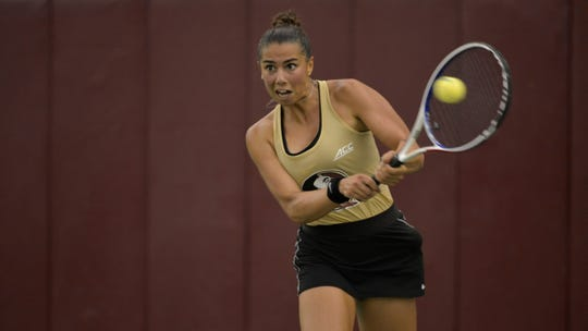 FSU sophomore Emmanuelle Salas' 6-1, 6-1 win on court two gave the Seminoles their only point in their 4-1 loss to UCF.
