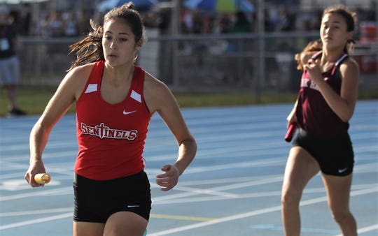 ECS' Elizabeth Wetmore helped the Sentinels win the state championship at the FHSAAA Track and Field State Championships at UNF's Hodges Stadium in Jacksonville on May 4.