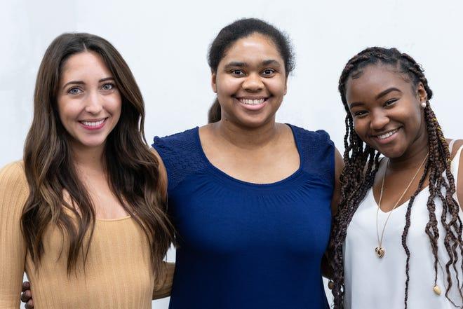 S4G' Volunteers, Melina Garcia, Sydney Simmons, Syria Laird.