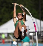 Fort Myers' Alex Chlumsky took fifth in the girls pole vault at the FHSAA Track and Field State Championships at UNF's Hodges Stadium in Jacksonville on Saturday.