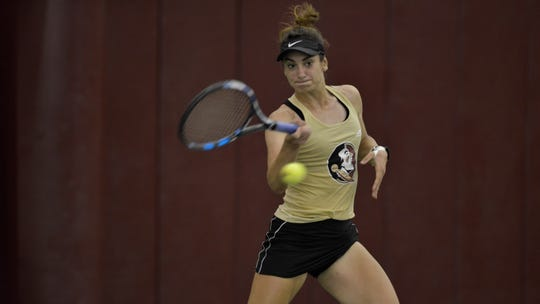 FSU's Ana Oparenovic finishes the season tied for the team lead with 25 wins.