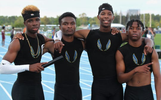 Rickards' boys 4x400 team of Jabari Bryant, Jordan Guice, Chris Robinson and Jordan Greenwood captured a gold medal, leading the Raiders to a Class 2A state runner-up finish at the FHSAA Track and Field State Championships on May 3 and 4, 2019.