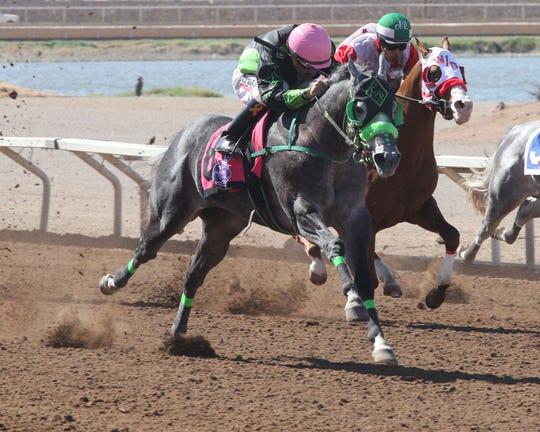 Perrys Secret won the Grade 2, 300-yard West Texas Futurity on Sunday at Sunland Park Racetrack & Casino.