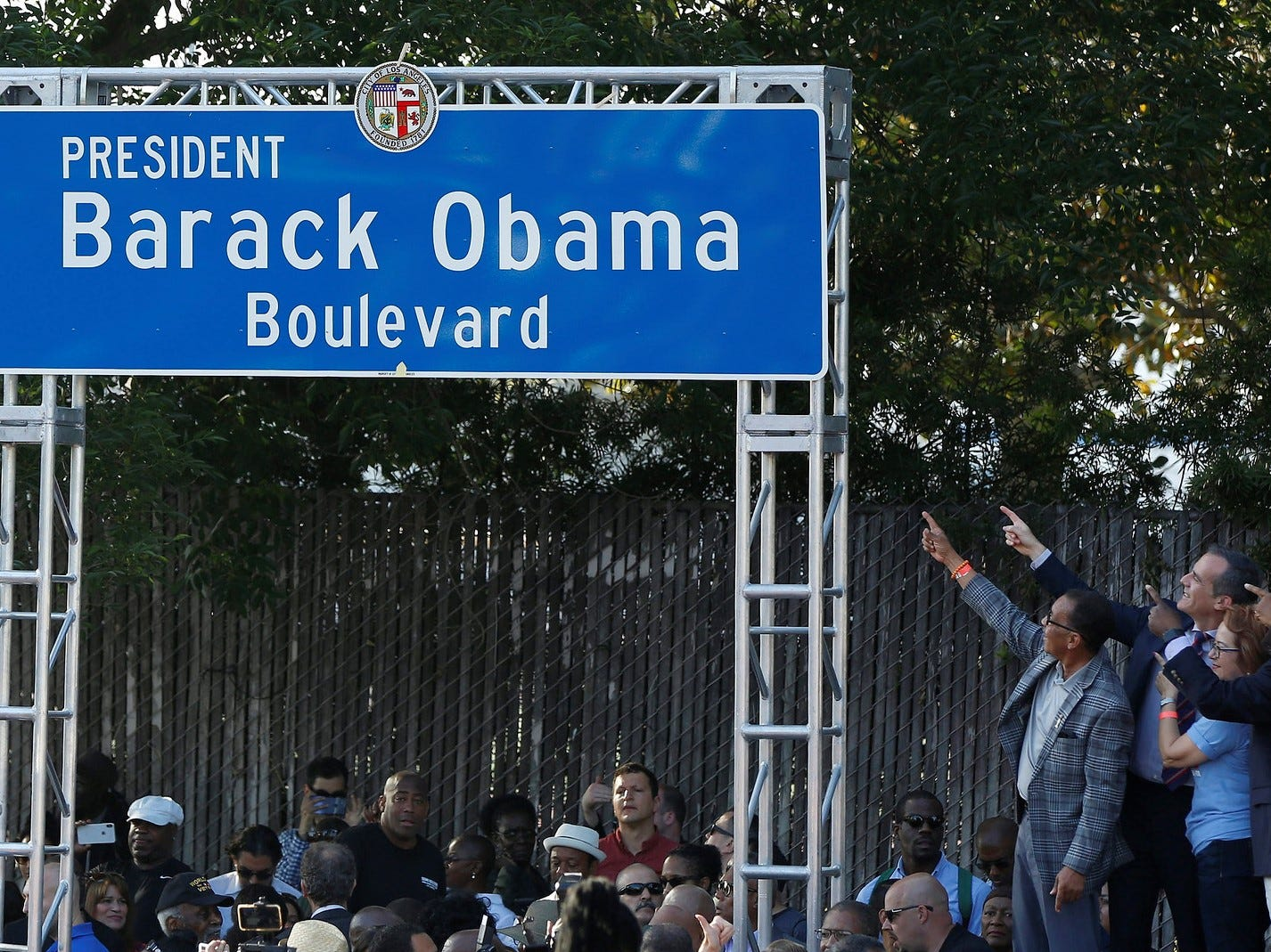 Stretch of road in Los Angeles renamed Obama Boulevard