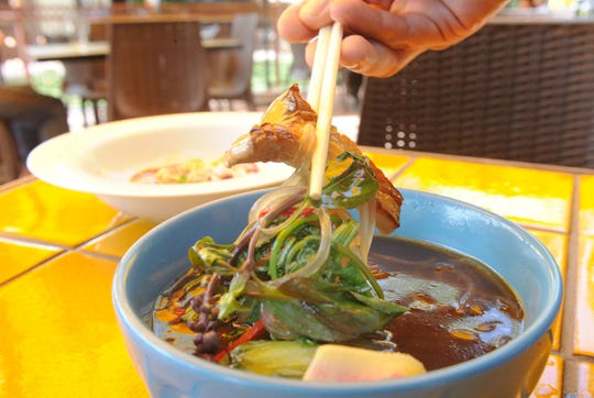 The vegetarian pho is served at Sage Mindful Meals and Elixirs in Ojai.