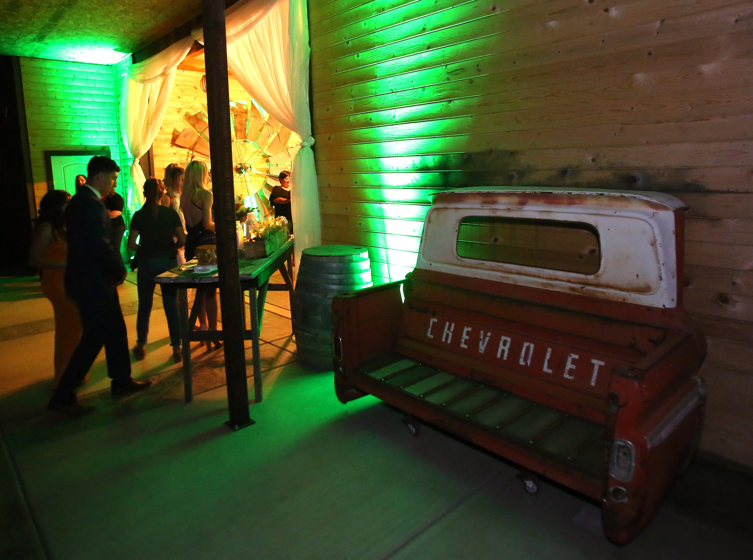 The old Cottonwood Barn was the backdrop at this year's annual Exeter Union High School prom Saturday, May 4, 2019 in Woodlake, Calif.