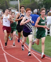 The boys 3200 during the annual Joe Lynne Somers Club Invitational at Somers High School May 4, 2019.