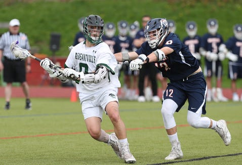 Briarcliff defeated Pleasantville 9-8 in boys lacrosse action at  Pleasantville High School May 4, 2019.