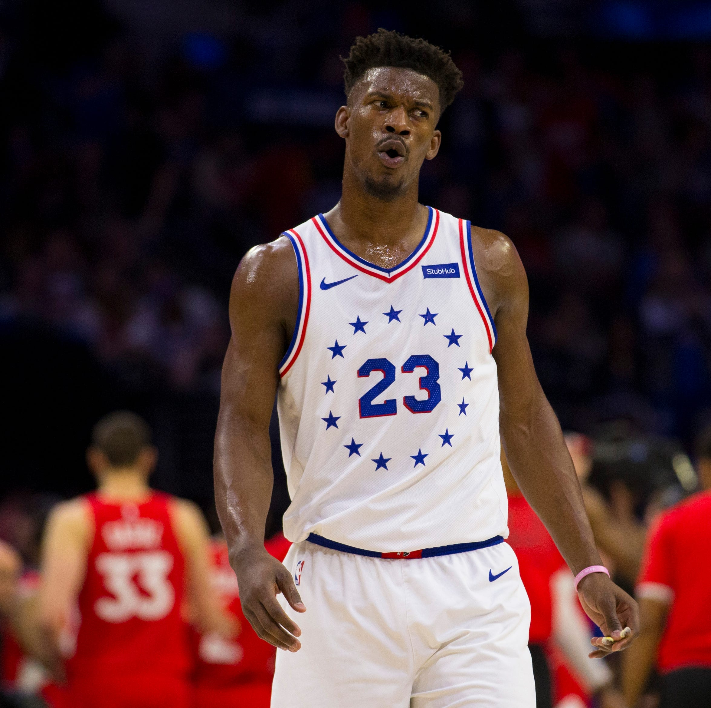 Jimmy Butler can't save Sixers, who fall to Kawhi Leonard, Raptors to even NBA playoff series