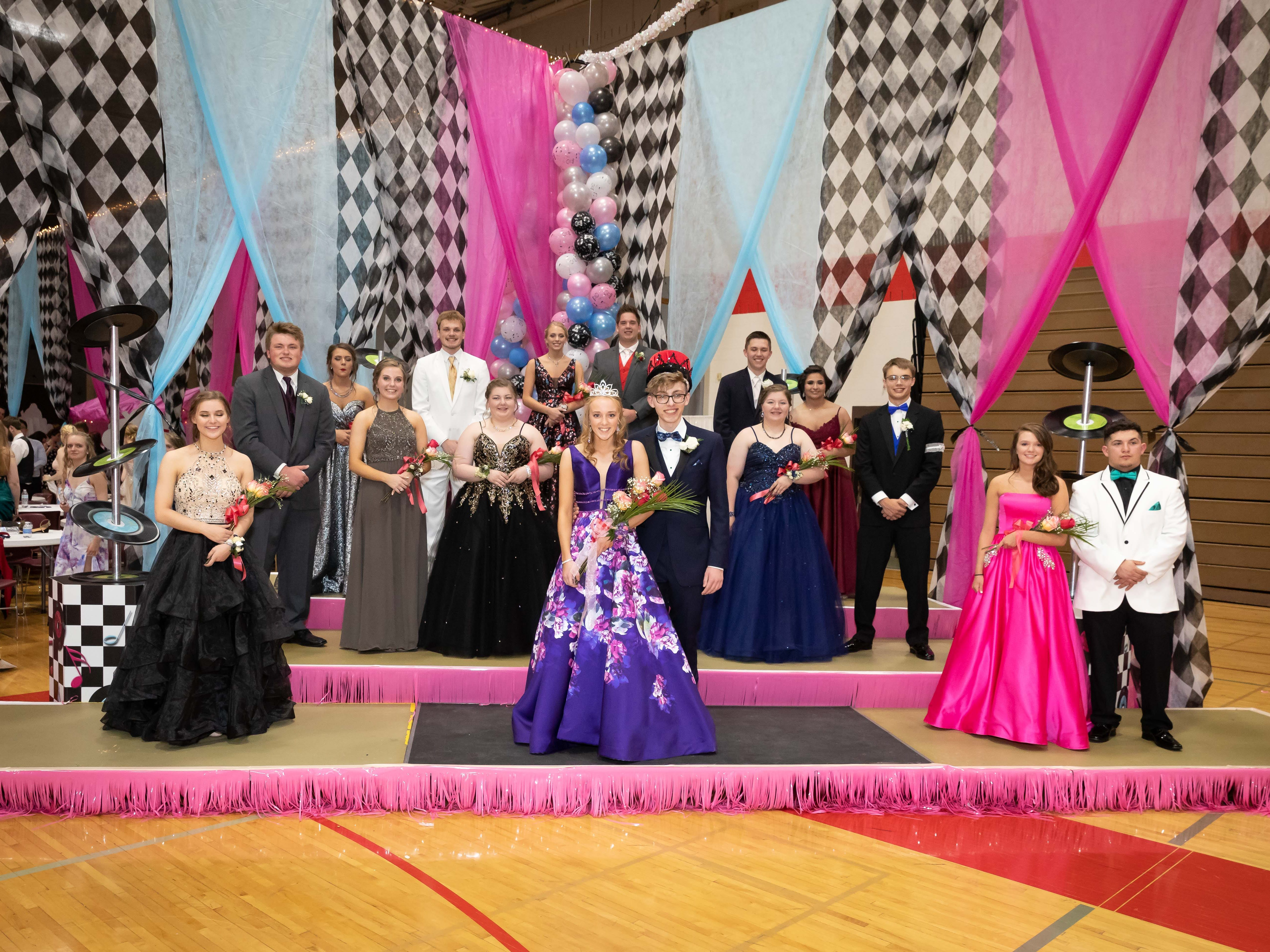 The prom court is announced during the Lincoln High School prom on Saturday, May 4, 2019, at the high school in Wisconsin Rapids.