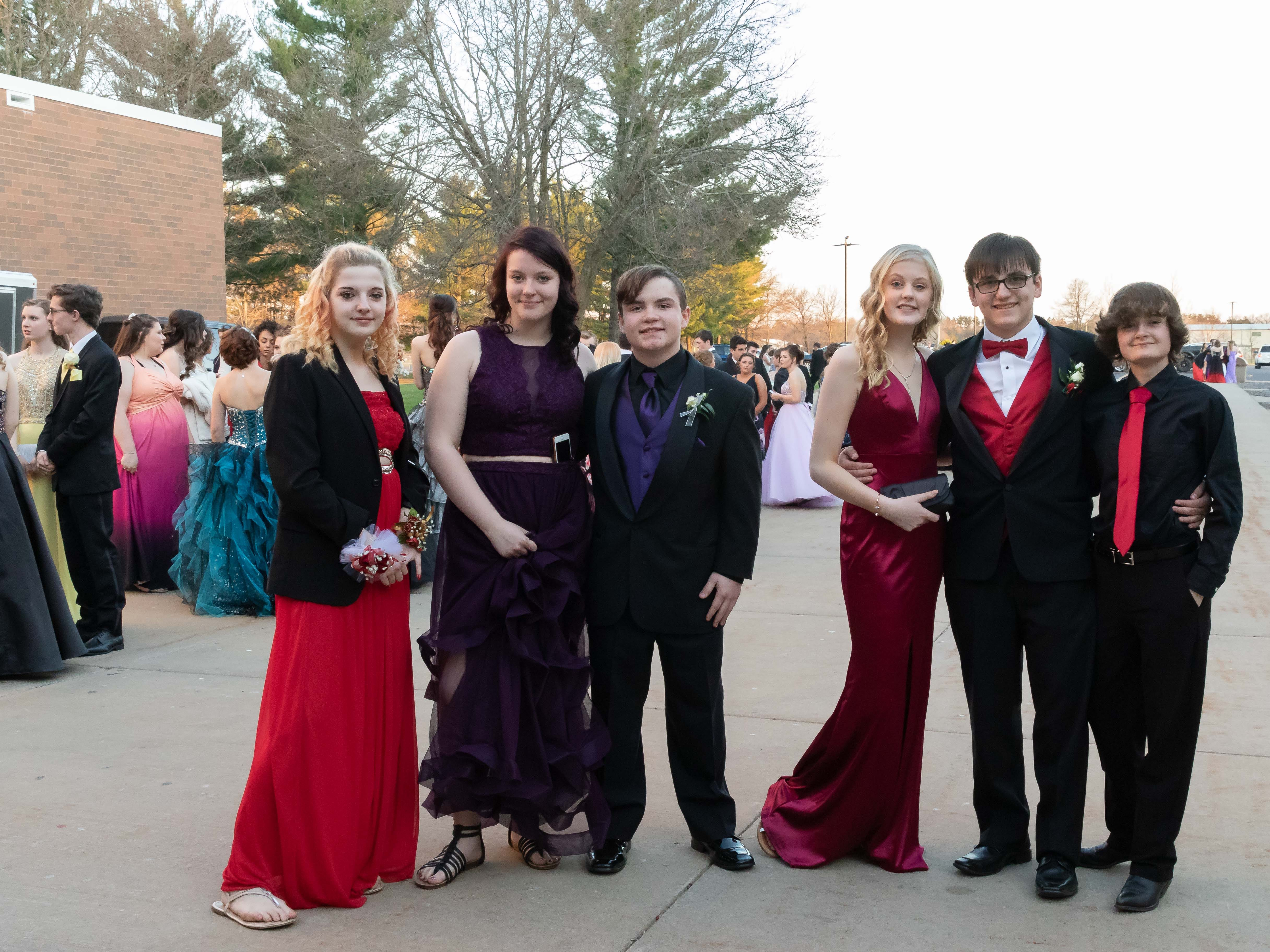 Students arrive for the Lincoln High School prom on Saturday, May 4, 2019, at the high school in Wisconsin Rapids.