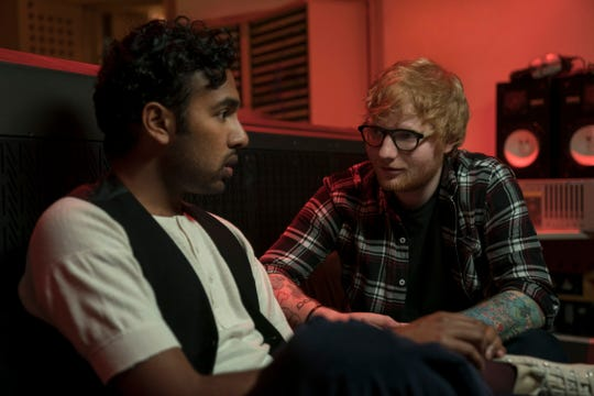 """Himesh Patel, left, is mentored by Ed Sheeran in the fantasy """"Yesterday."""""""