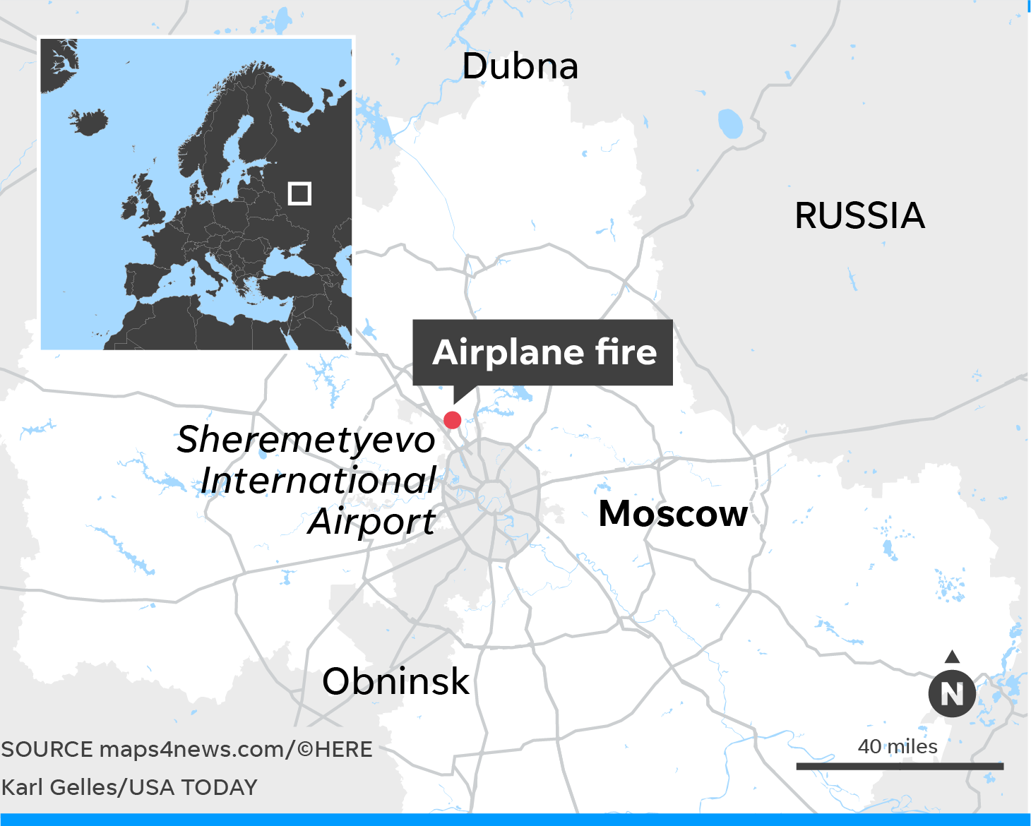 Russian plane crash: At least 40 dead in Moscow fire caught on video