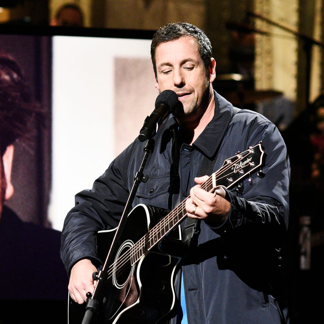 "Adam Sandler sang a touching tribute to his friend Chris Farley as host of ""Saturday Night Live."""