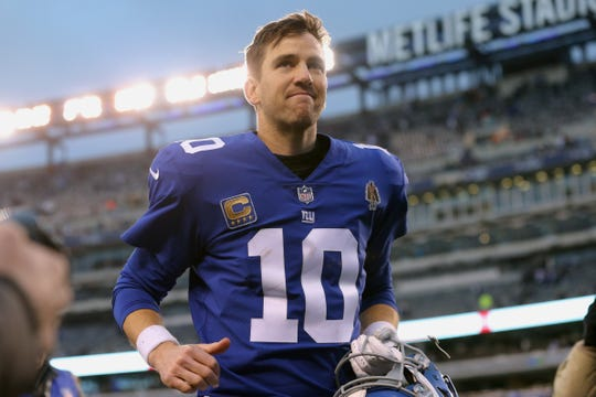 Eli Manning's response to criticisms is always the same: 'Very, very stoic.'