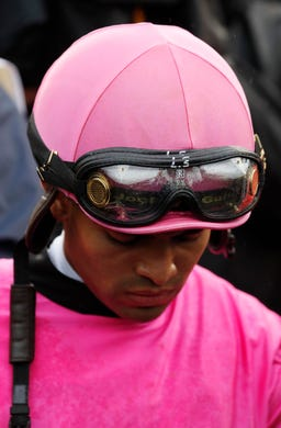 Jockey Luis Saez reacts to the ruling. Maximum Security was the first winner in Derby history to lose on an objection.