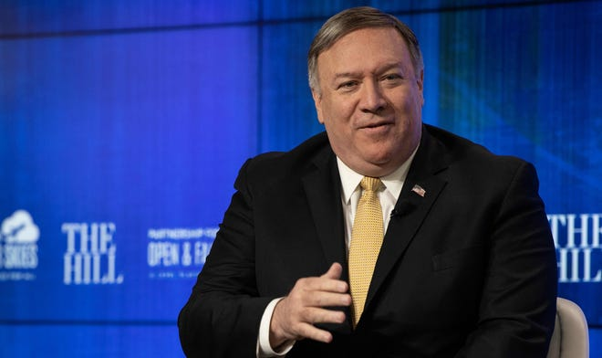 Secretary of State Mike Pompeo says North Korean missile launches weren't a threat to the United States.
