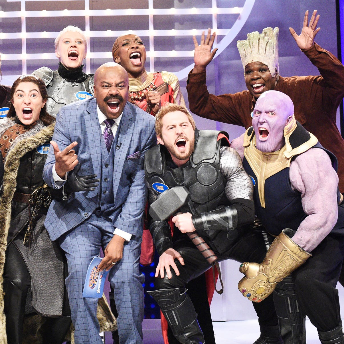 "The ""Family Feud"" cold open on ""Saturday Night Live"" featured a throwdown between ""Game of Thrones"" characters and the ""Avengers: Endgame"" crew."