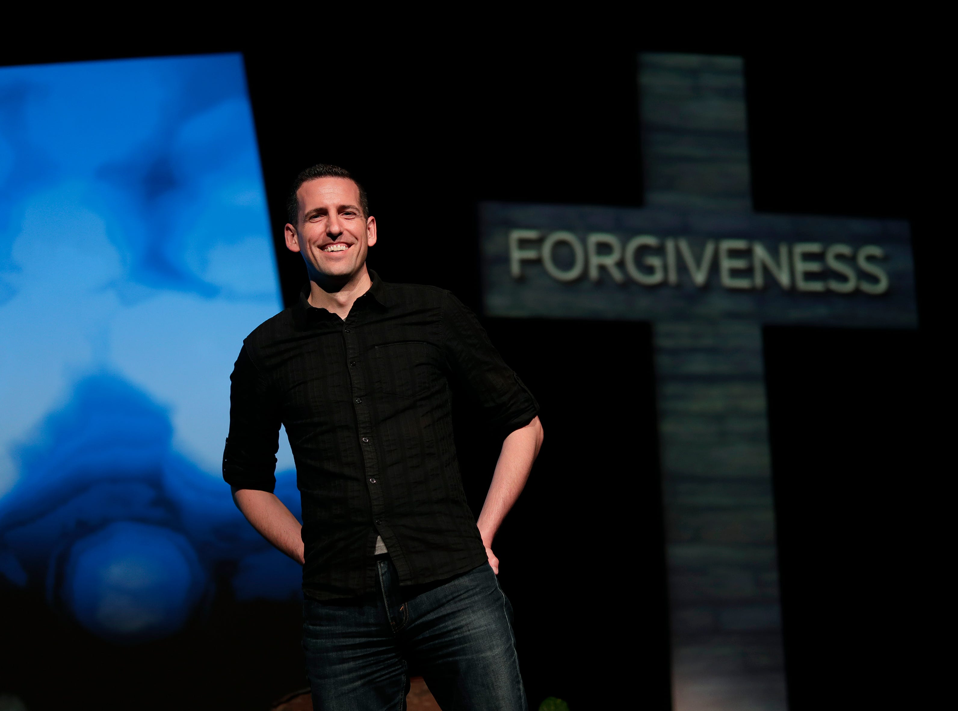 Pastor Mike Novotny will be taking over a religious television broadcast called Time of Grace. He is seen here at The CORE church Tuesday, April 30, 2019, where the show will be based out of in Appleton, Wis. Dan Powers/USA TODAY NETWORK-Wisconsin