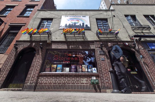 This May 29, 2014 file photo shows The Stonewall Inn, in New York's Greenwich Village.