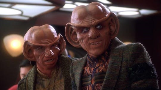 "Lakewood native Armin Shimerman, right, as Quark on ""Star Trek: Deep Space Nine."""