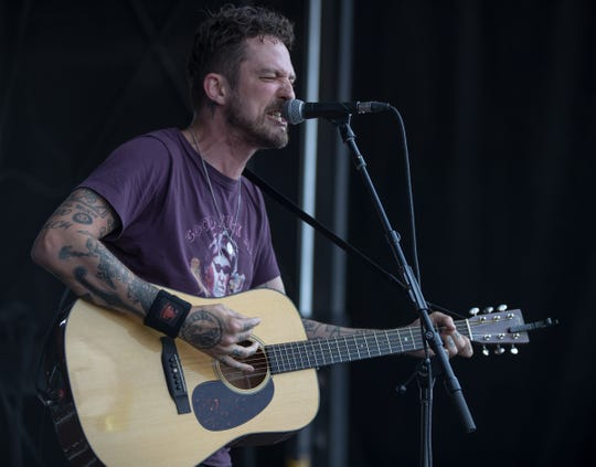 Frank Turner performs during the Vans Warped Tour, Ruoff Music Center, Noblesville, Indiana on July 24, 2018.