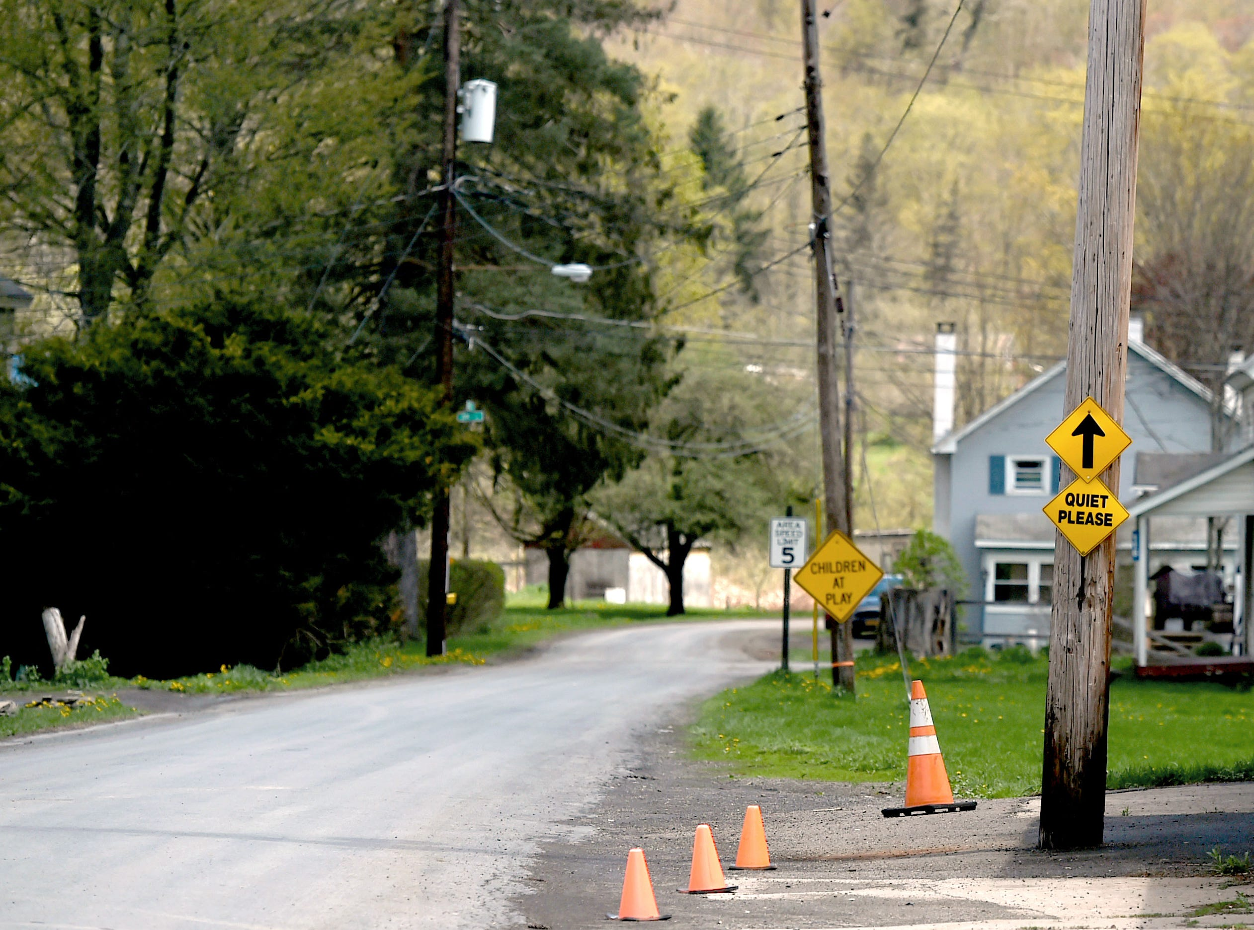 Water St. in Smithville Flats, Chenango County. Amelia Wakefield, 16, was found dead inside a Water St. residence on Friday.