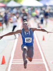 Olympic's Darelle White won the triple jump at the Class 2A state track and field championships in May of 2017, one month after his mother died.