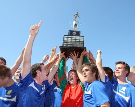 Bainbridge's boys soccer team won the Class 3A state title in 2012.