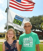Rayna Kamon, 10, had a liver transplant at  7 months old. Tom Stokes, 70, had one at 68. They are both very grateful for the organ donations, and urge people to sign up through the Department of Motor Vehicles to have it placed on your driver's license, or go to www.donatelife.org.