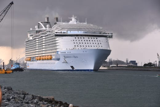 Two Royal Caribbean ships, including second largest in world, come
