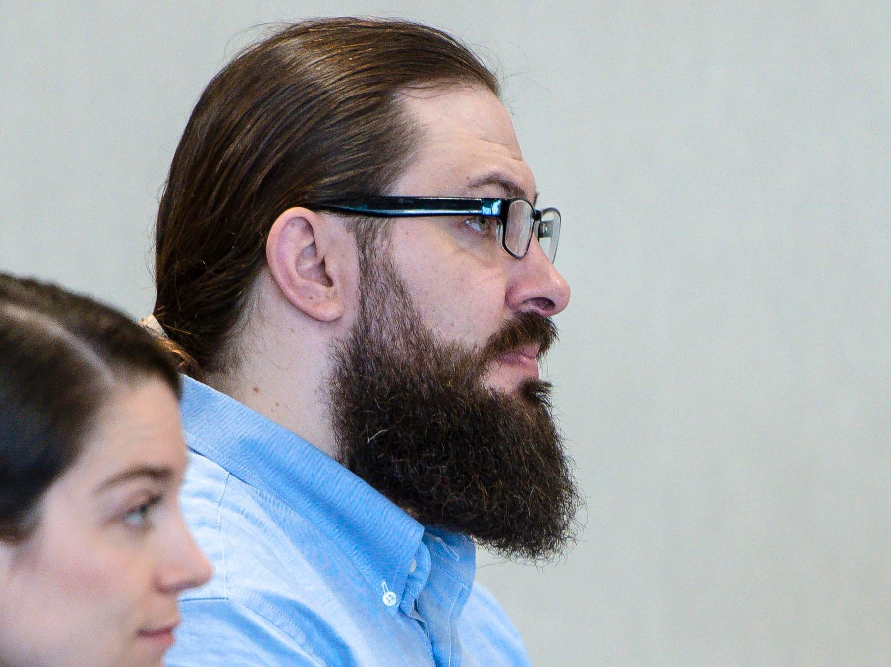 Steven Bourgoin appears for the first day of his trial in Vermont Superior Court in Burlington on Monday, May 6, 2019.  Steve Bourgoin is facing five counts of second-degree murder for a crash that killed five teenagers in I-89 in Williston in 2016.