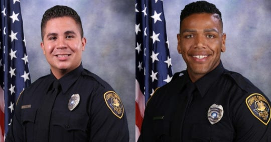 Officer John Garza and Officer Michael Love