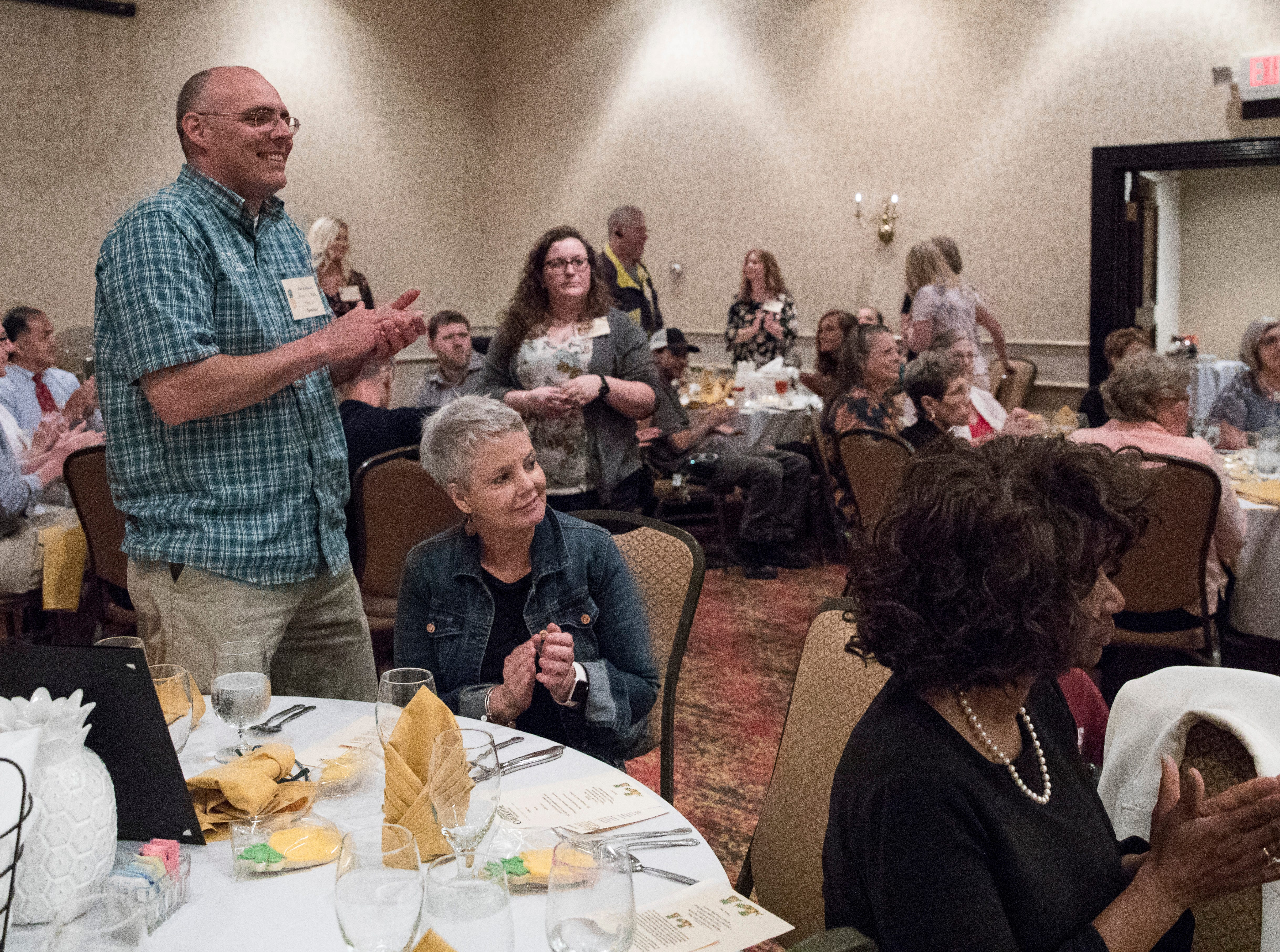 Numerous Pineapple Award nominees stood up to be congratulated at the Christopher Conference Center in Chillicothe, Ohio, on May 6, 2019.