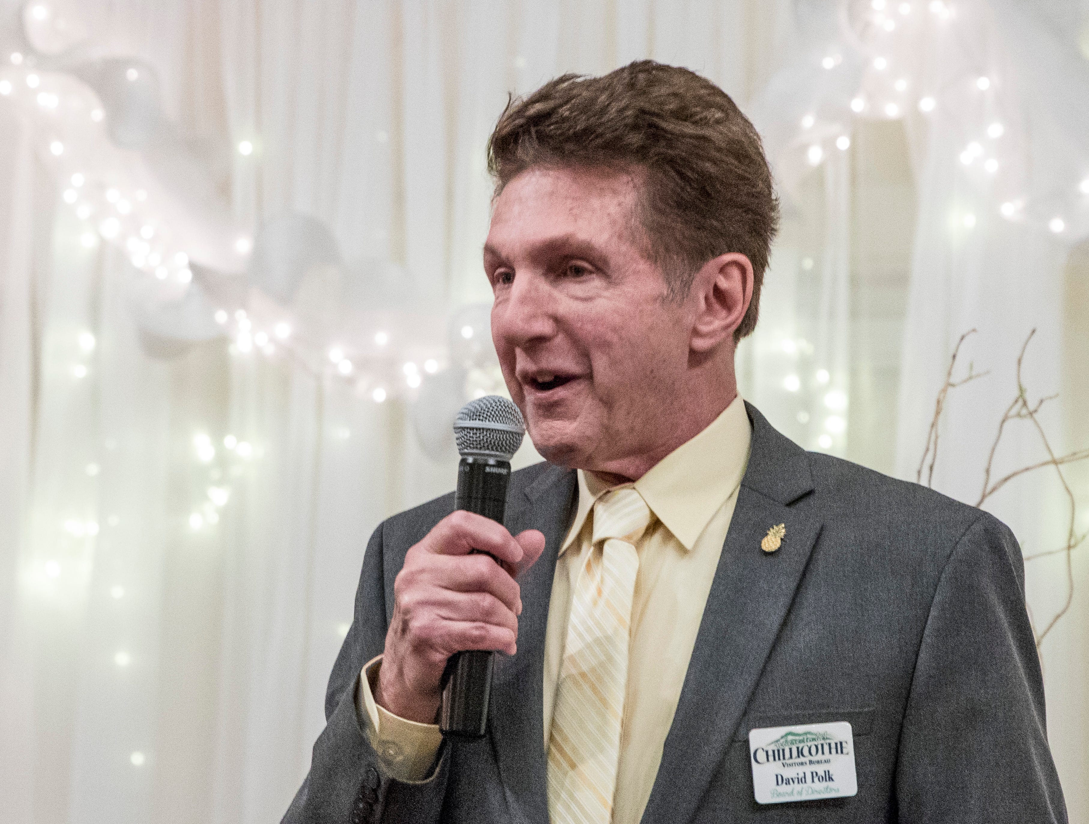 David Polk, past president of the of the Ross-Chillicothe Convention & Visitors Bureau's executive board, emceed the 2019 Pineapple Award banquet at the Christopher Conference Center in Chillicothe, Ohio, on May 6, 2019.